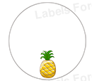 Round shoe labels (Ananas)
