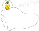 Shoe labels (Ananas)